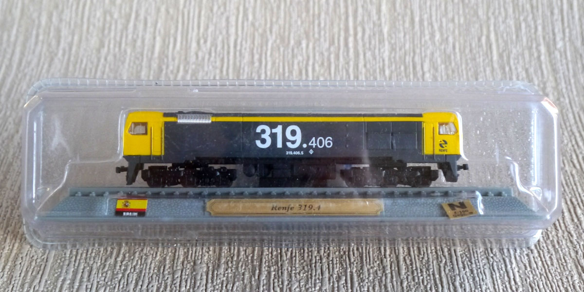Spanish diesel electric locomotive 1:160 scale