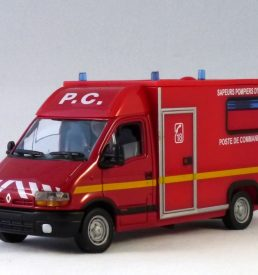 French Red Renault Master emergency services van