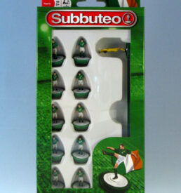 Subbuteo Football Team PLG3115 Republic of Ireland in green shirts, white shorts and green socks.