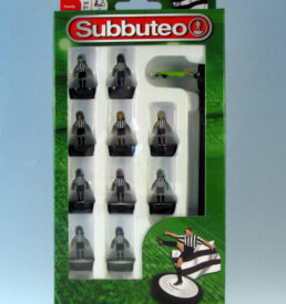 Subbuteo Football Team PLG3135 Black & White Stripe Shirts / Black Shorts Newcastle United